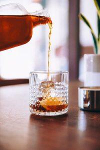bourbon pour glass